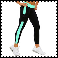 Style Athletics Workout Clothes Amazon Online Activewear Active Clothing Shop Crop Pants Leggings Yoga Black Teal Aqua Tuxedo