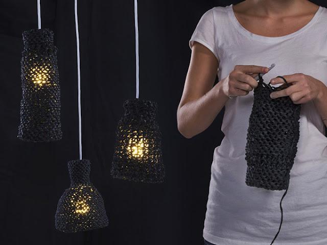 la maison d 39 anna g une lampe crochet e. Black Bedroom Furniture Sets. Home Design Ideas