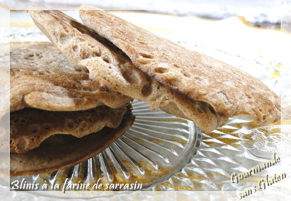 Blinis à la farine de sarrasin sans gluten