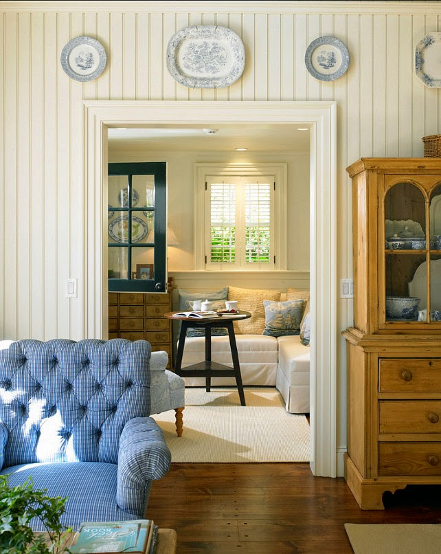 lovely living rooms beadboard | Vintage Farmhouse: Martha's Vineyard 1700s Federal Colonial