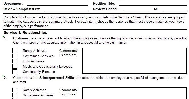 Appraisal Sheet - Fiveoutsiders
