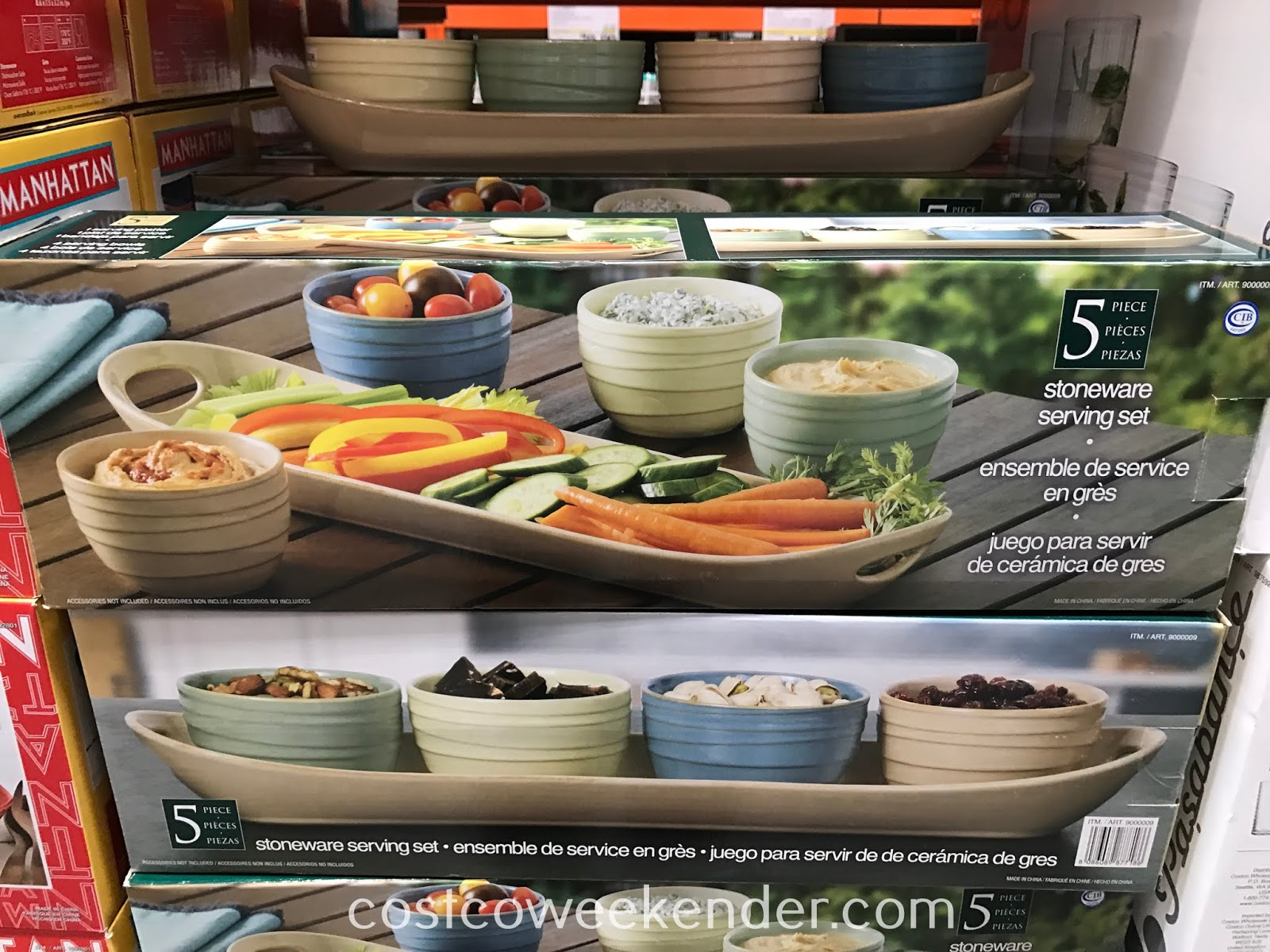 Costco 9000009 - 5-piece Stoneware Serving Set: great for hosting parties and get togethers