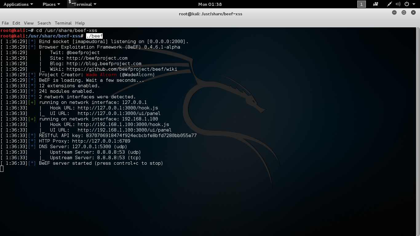 hacking by kali linux: hack facebook id using beef-xss in linux