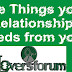 Nine Things your relationship needs from you