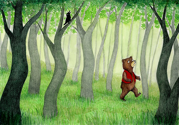 in the woods illustration yara dutra