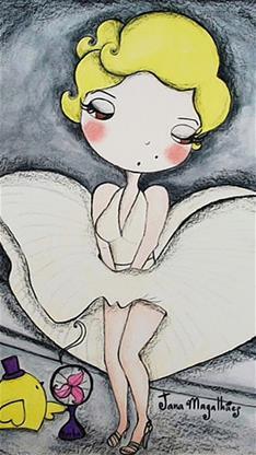 sensacional caricatura de Marilyn monroe