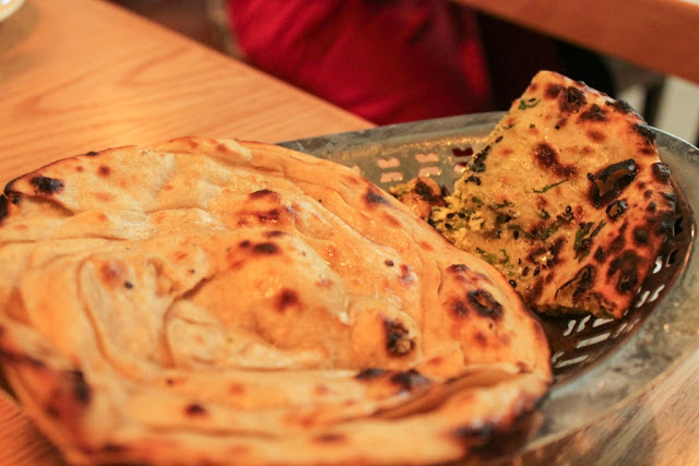 Stuffed Kulcha and Lachedar Paratha