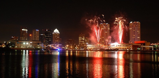 The Tampa Skyline Will Light Up Saturday Night In Celebration Of The New Year With Thousands Watching From Channelside And The Riverwalk