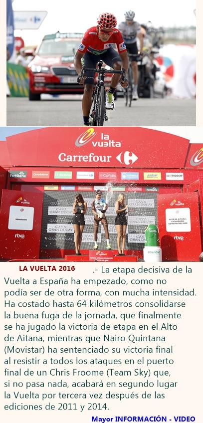 Nairo sentencia la Vuelta en el Alto de Aitana, donde gana Latour