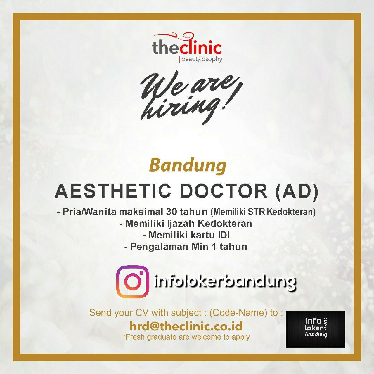 Lowongan Kerja Aesthetic Doctor width=