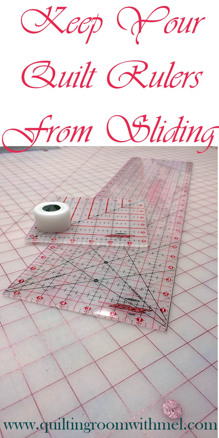 keep your quilt rulers from sliding