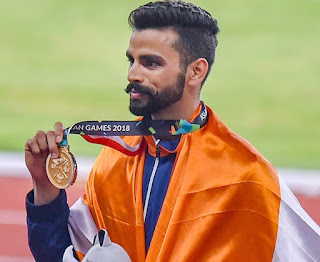 Arpinder Singh wins the gold medal in Men's Triple Jump event