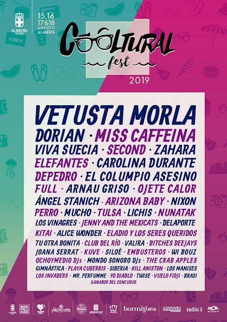 Agenda de giras, conciertos y festivales - Página 12 Cooltural19