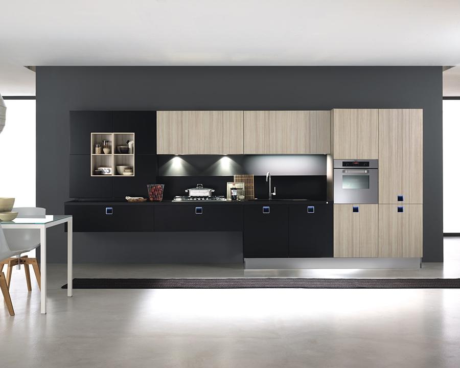 Cocinas lineales la combinacin de colores  Cocinas con