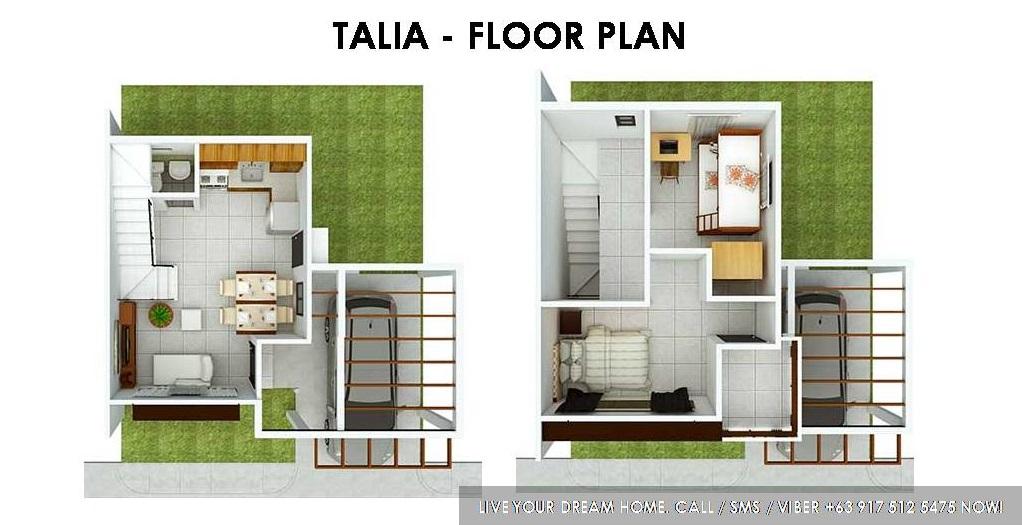 Floor Plan of Talia Complete - Idesia Dasmarinas | Affordable Pagibig House for Sale Dasmarinas Cavite