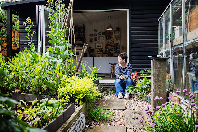 Helen Hallows, garden, art studio, artist work spaces, Sketchbook Conversations