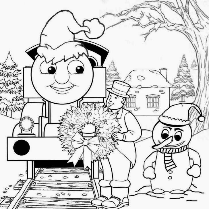 Mewarnai gambar Thomas untuk anak 8