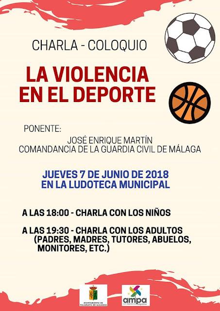 """Charla """"La Violencia en el Deporte"""" en Villanueva de Algaidas"""