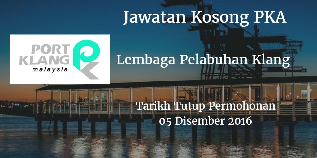 Jawatan Kosong PKA 05 Disember 2016