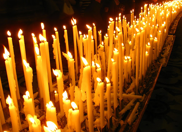 cathedral candles, Hope photograph, breast cancer