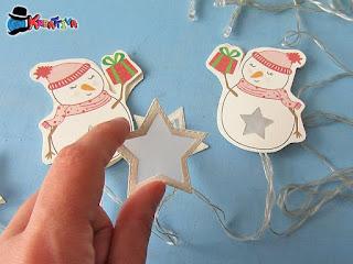 stella di carta per lucine di natale