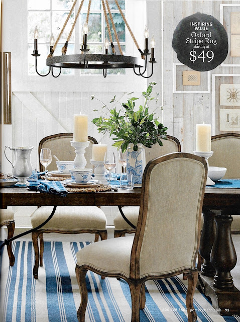 Traditional blue decor Pottery Barn
