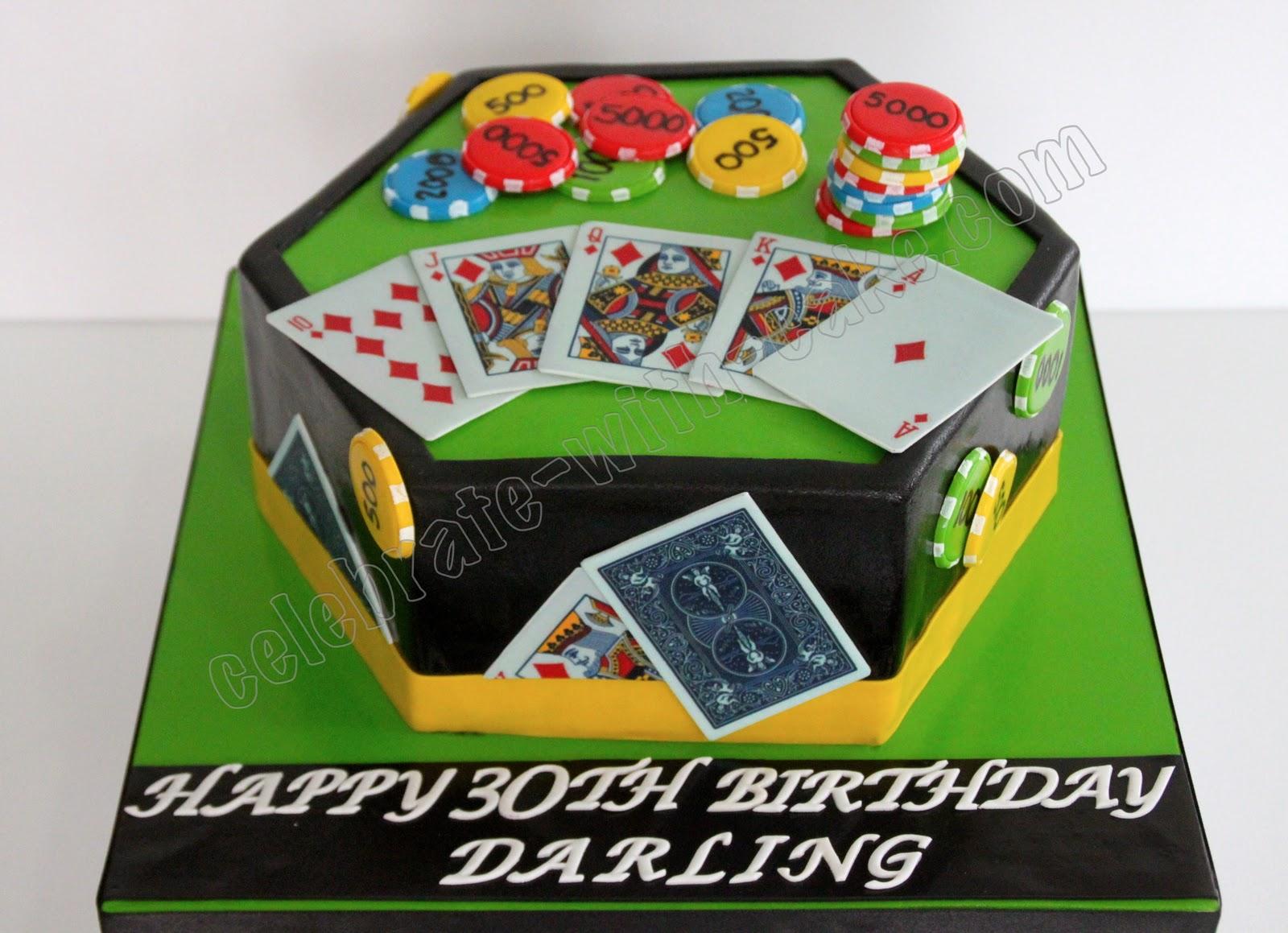 Celebrate With Cake Poker Cake