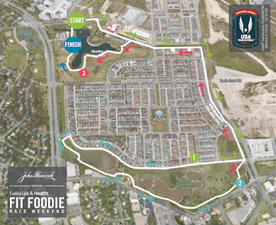 Fit Foodie Austin 5k Mueller course map