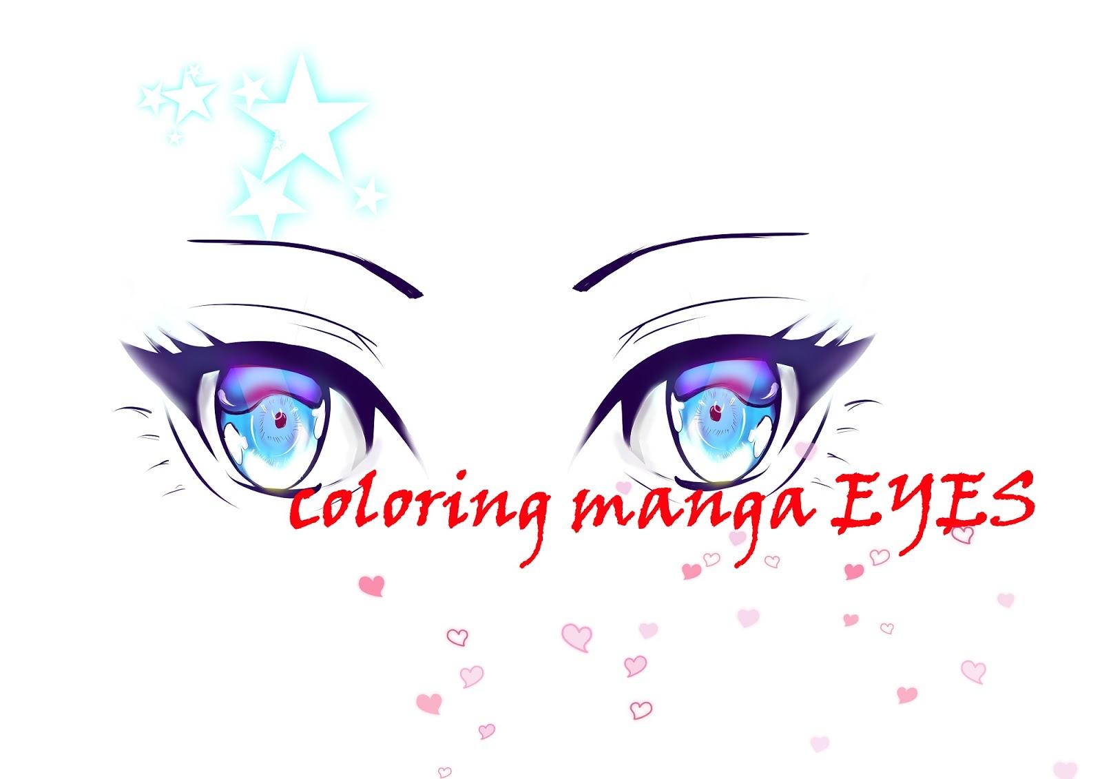 Step Mewarnai Mata Manga Versi Ke 2 MAYAGAMI