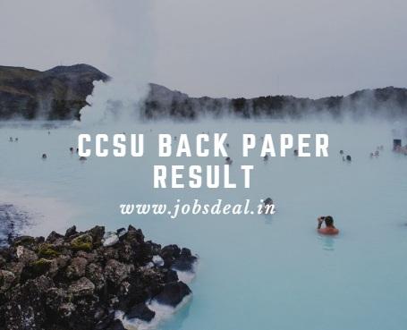 CCSU Back Paper Result 2017