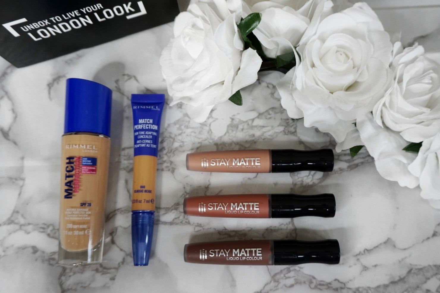 GET THE LOVE ISLAND LOOK WITH THE MATCH PERFECTION FOUNDATION, CONCEALER AND STAY MATTE LIQUID LIP COLOUR COLLECTION BY RIMMEL LONDON