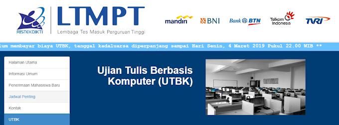 LTMPT rilis Penutupan Sementara untuk Pendaftaran  UTBK 2019