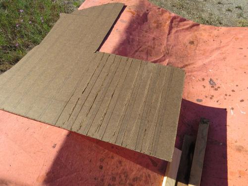 masonite paneling scored on the back