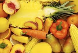 Buah dan sayur warna kuning