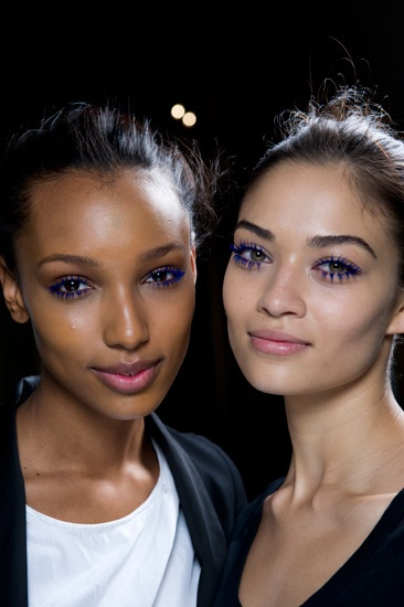 """566e05e8efa """"[Stella] said, 'I love when girls wear colored mascara,'"""" explained makeup  artist Pat McGrath backstage. The striking purple-cobalt shade they came up  with ..."""