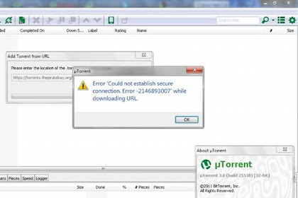 Cara Mengatasi Unable to Load: Torrent is not Valid Bencoding Error