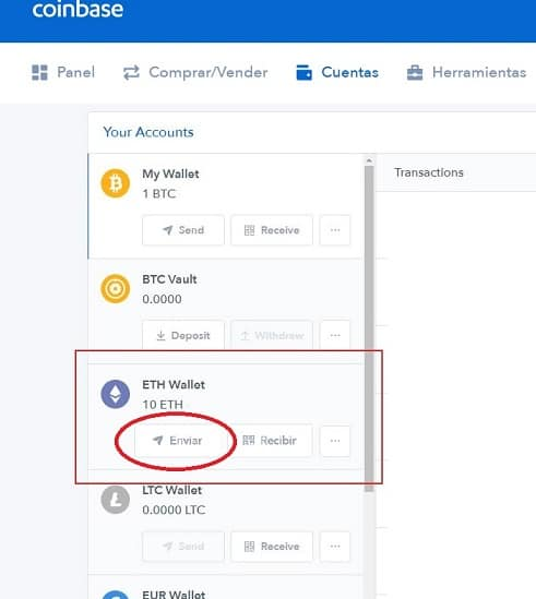 enviar ethereum de coinbase a binance request (REQ)