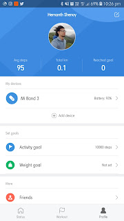 Image result for xiaomi Mi band 3 app