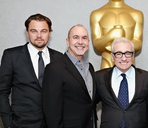 THE WOLF OF WALL STREET Oscar nominees Leonardo DiCaprio (Best Actor), Terence Winter (Best Adapted Screenplay), Martin Scorsese (Best Director)
