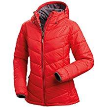 Nordcap Damen Jacke in Daunenoptik, warme Steppjacke in Rot, tolle Übergangs- & Winterjacke, 100% Wattierung (Gr: 36 - 50)