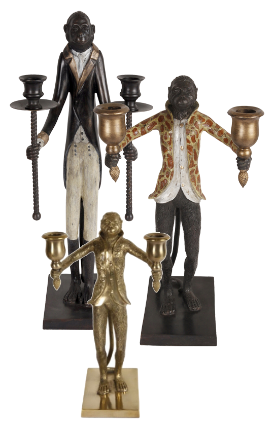 Apljusstakarn Herr Arthur (45 cm), Herr Benjamin (45 cm) och Monkey (23 cm) finns hos Newport.se   www.var-dags-rum.se