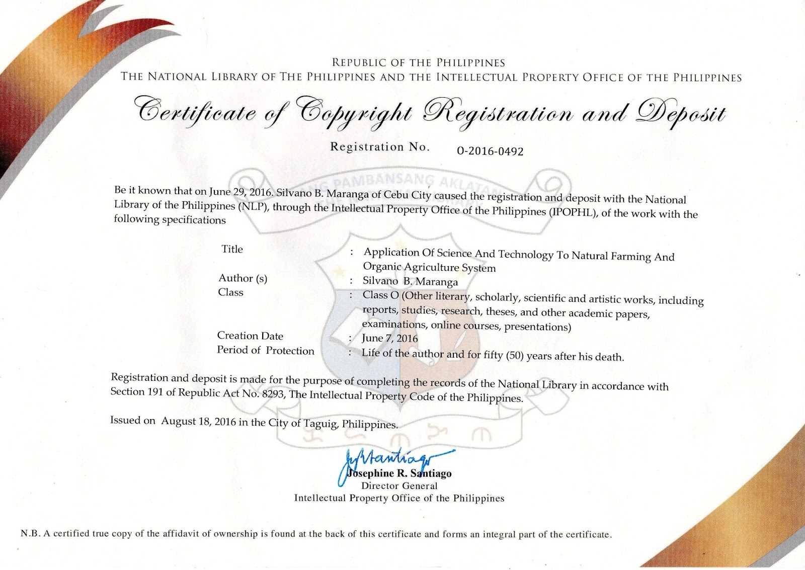 Askedwell In 2016 Start Of A New Journey Certificate Of Copyright