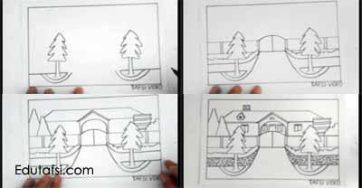 Cara menggambar rumah step by step untuk pemula