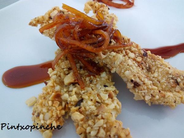 Roché de lenguado con salsa de naranja