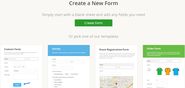 Adding contact form to blogger