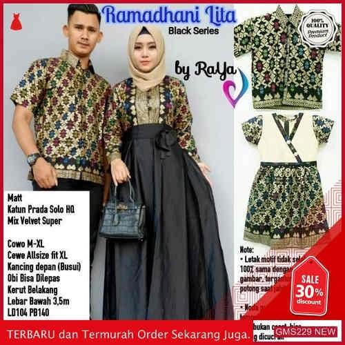 GMS229 STJW229R84 Ramadhani Lita Couple Gamis Batik Dropship SK0531420590