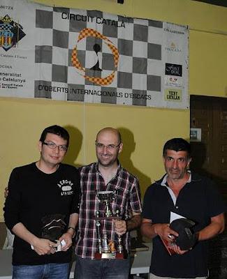 Los vencedores del Torneo Abierto Internacional de Ajedrez de La Pobla de Lillet 2012