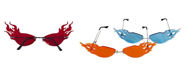 óculos-escuros-chama-de-fogo-meteórro-J-Zhong