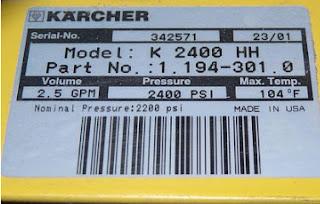 Маркировка Karcher
