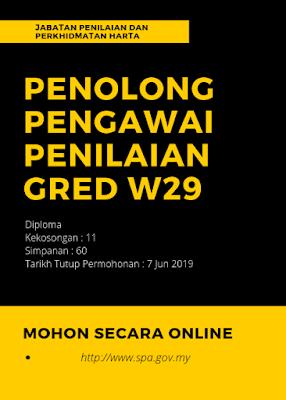Jawatan Kosong di Jabatan Penilaian Dan Perkhidmatan Harta 2019